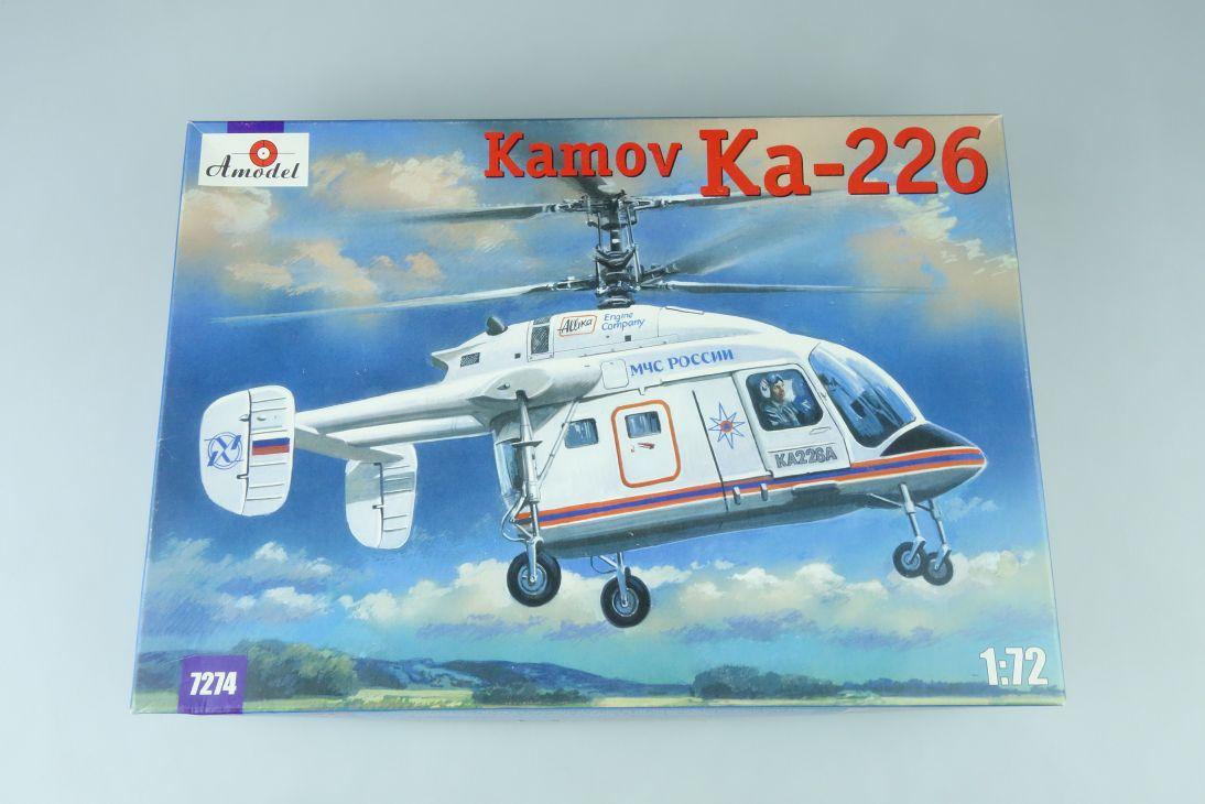 Amodel 1:72 Kamov Ka-226 Hubschrauber Helicopter Kit 7274 Box 107666