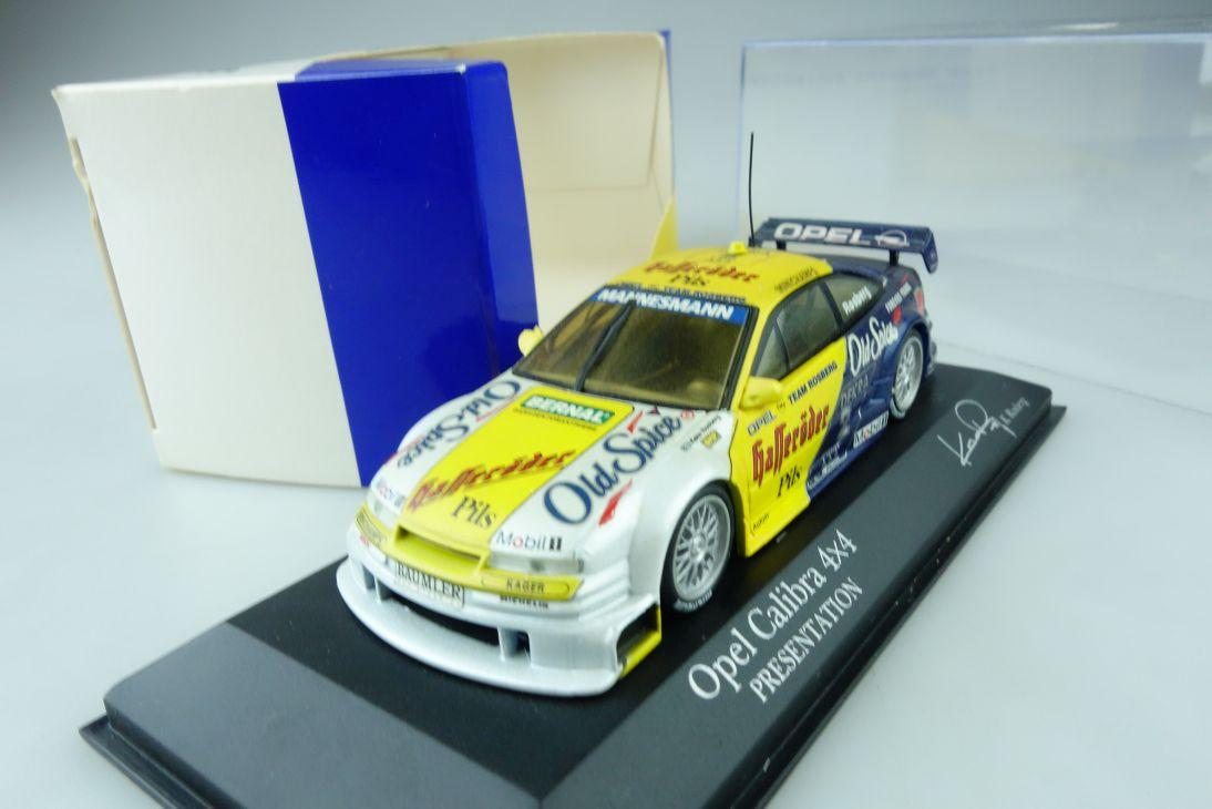 Minichamps 1:43 Opel Calibra 4x4 DTM Presentation 1995 Keke Rosberg Box 107493