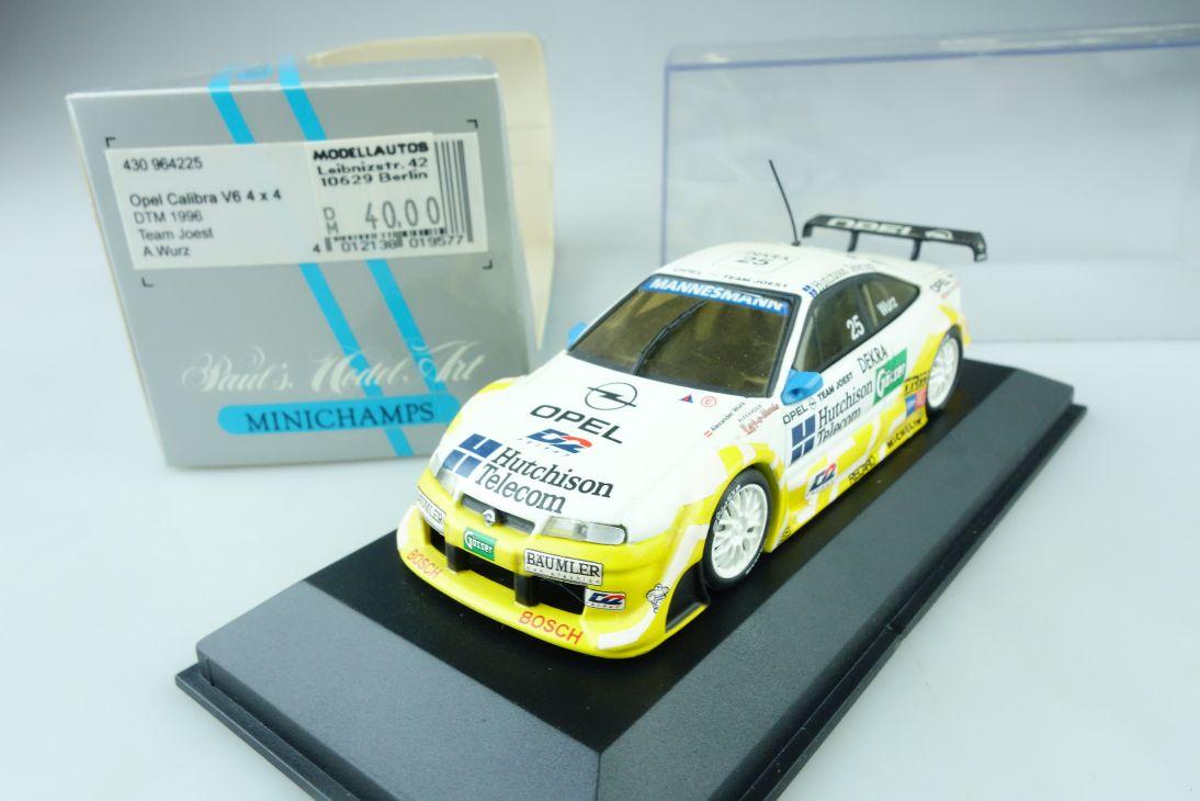 Minichamps 1:43 Opel Calibra V6 4x4 DTM # 25 1996 Joest Wurz Box 107496
