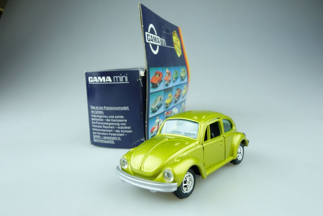 Gama Mini 1:43 VW Käfer 1302 Gold Volkswagen Beetle Bug diecast + Box 107552