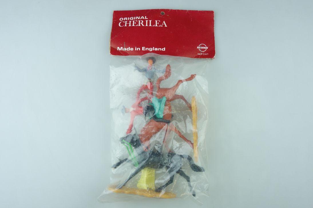 Cherilea England Cowboys Reiter wildwest Figuren in bag Tüte OVP 107557