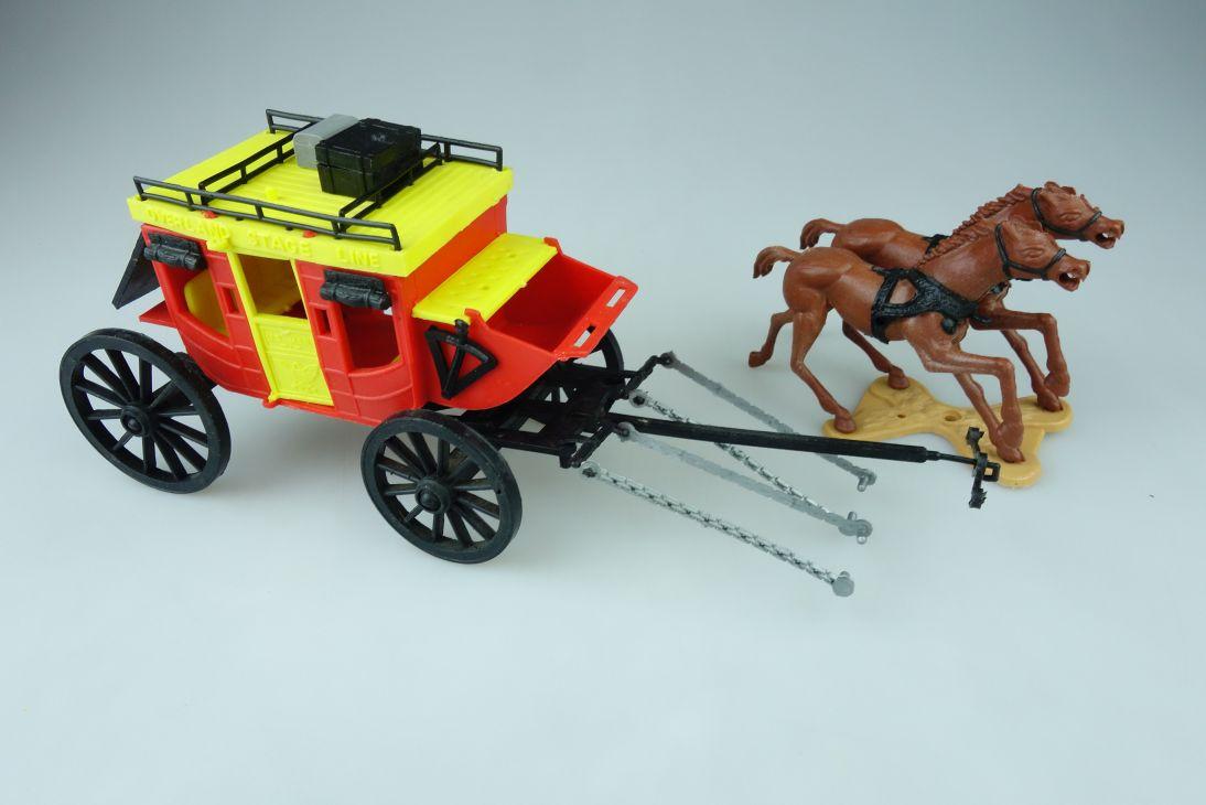 Cherilea England overland stage post Kutsche Pferde coach wildwest 107560