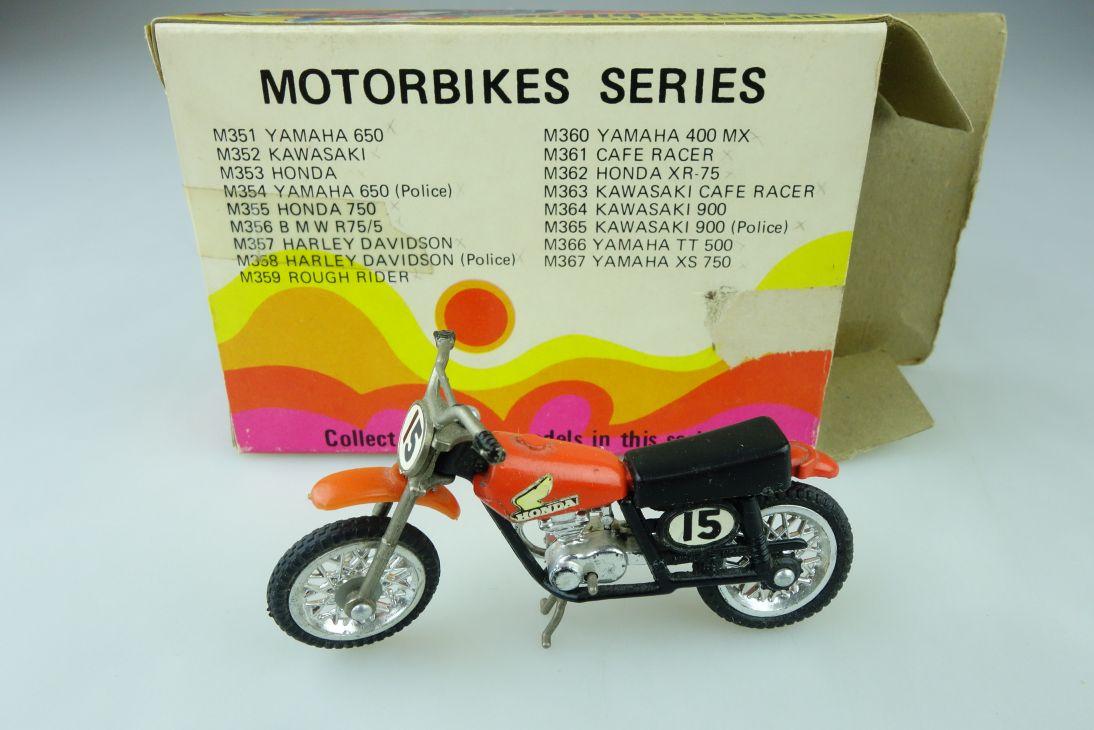 ZZ Models 1/24 Motorrad Honda XR 75 Cross Motorbikes mit Box 510173