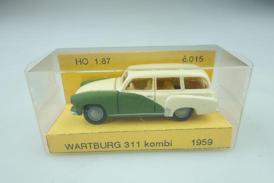 Artapo Handarbeits- Kleinserie 1/87 Wartburg 311 Kombi 1959 mit Box 510230