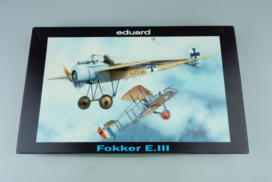 Eduard 1:72 Fokker E.III prop plane Kit 7022 + Box 107712