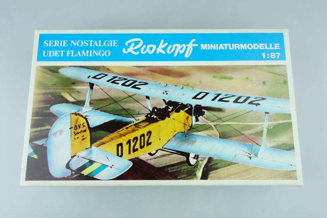 RMM Roskopf 1:87 Udet Flamingo prop plane Nostalgie Kit 2000 Box 107718