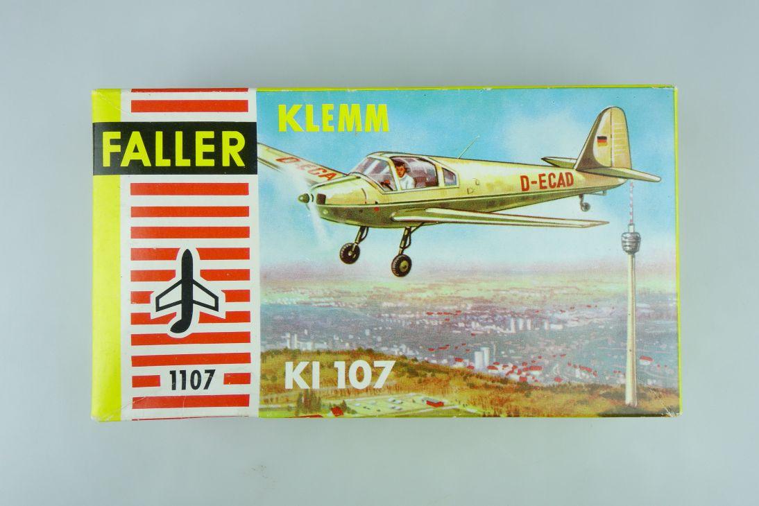 Faller 1:100 KLEMM KI 107 prop plane Kit 1107 Bausatz Box 107720