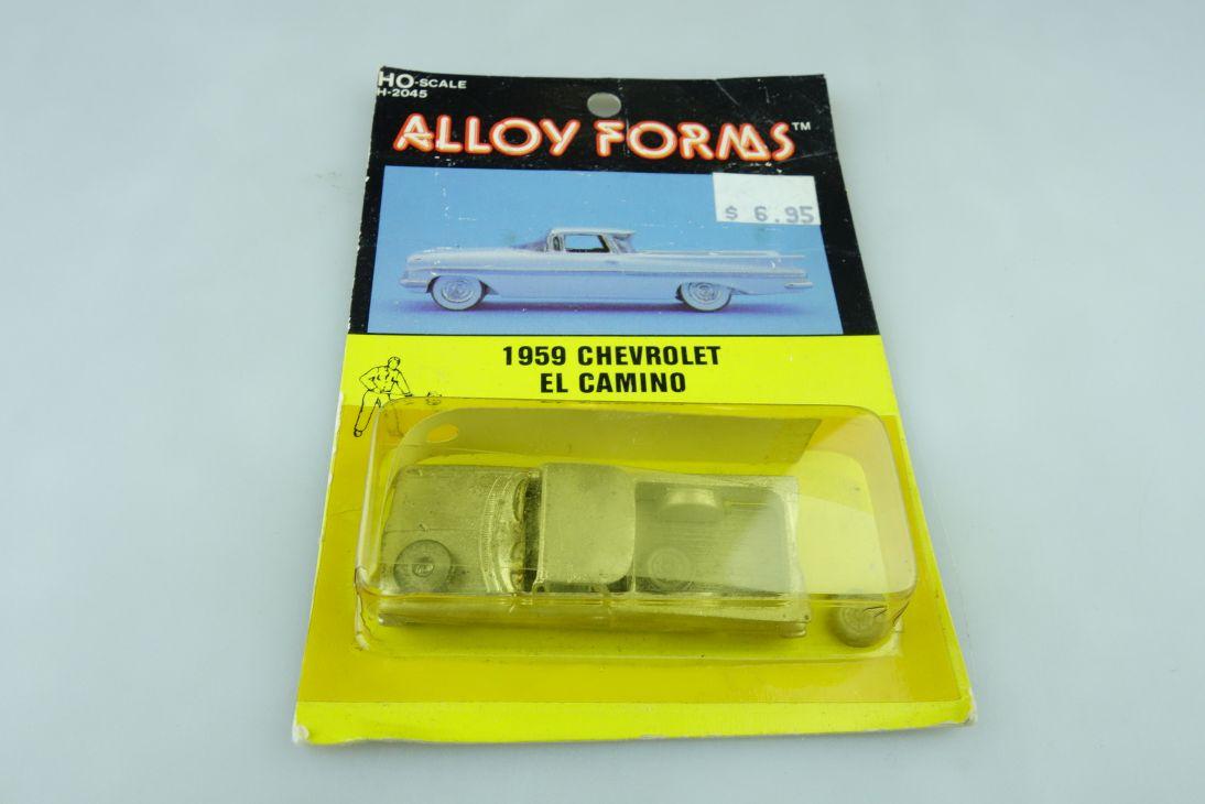 Kit Alloy Forms 1/87 Metall Bausatz 1959 Chevrolet El Camino mit Box 510248