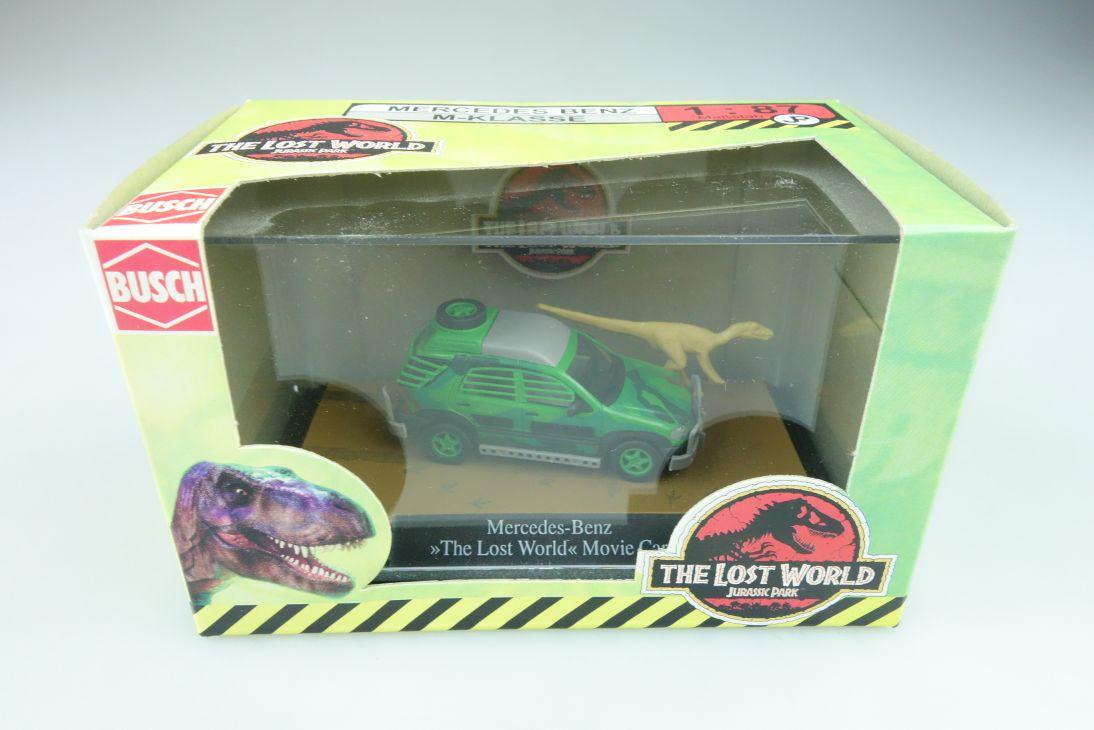 48504 Busch 1/87 Mercedes Benz ML Jurassic Park the lost world mit Box 510256