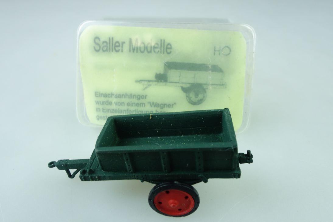87531 Saller Modelle Kleinserie 1/87 Einachspritschenanhänger mit Box 510264
