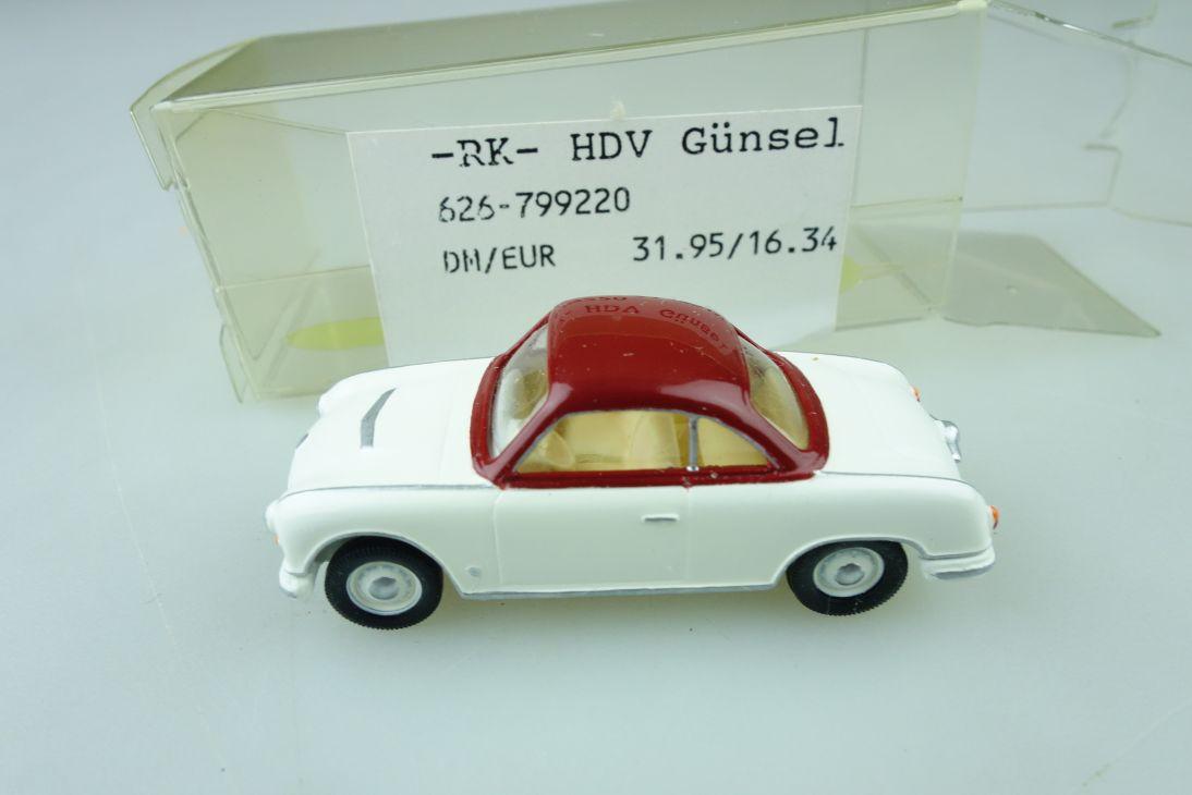 RK HDV Günsel Kleinserie 1/87 DDR AWZ P70 Coupe ohne Box 510266