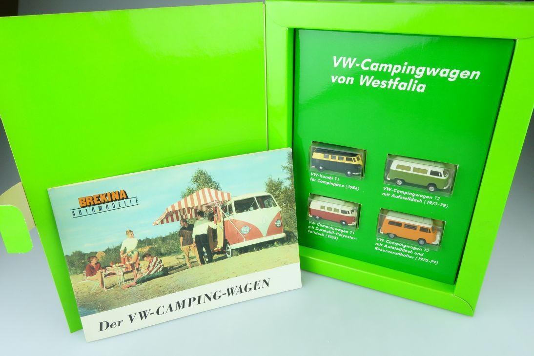 Brekina H0 1:87 4er Set Heft Der VW Camping Wagen T1 T2 Volkswagen 9028 107638
