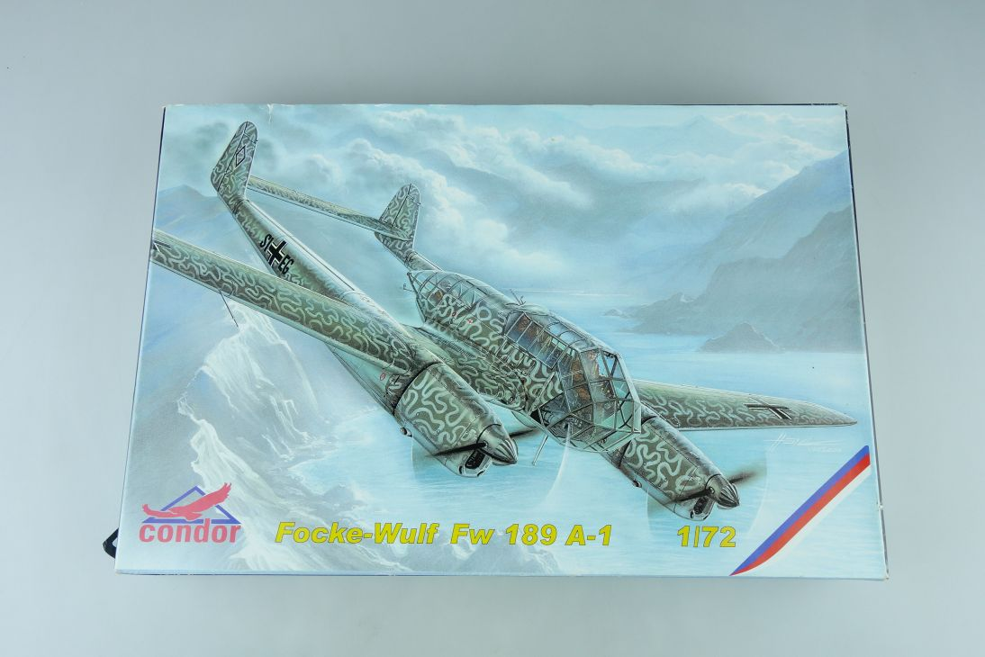 Condor 1/72 Focke Wulf Fw 189 A-1 prop plane Cz Kit C72005 + Box 107740