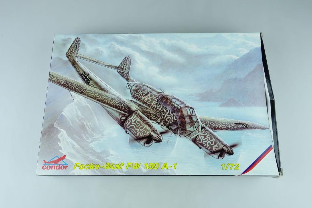 Condor 1/72 Focke Wulf Fw 189 A-1 prop plane Cz Kit C72005 + Box 107741