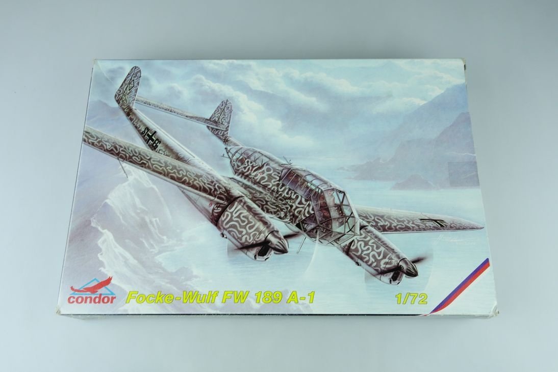 Condor 1/72 Focke Wulf Fw 189 A-1 prop plane Cz Kit C72005 + Box 107742