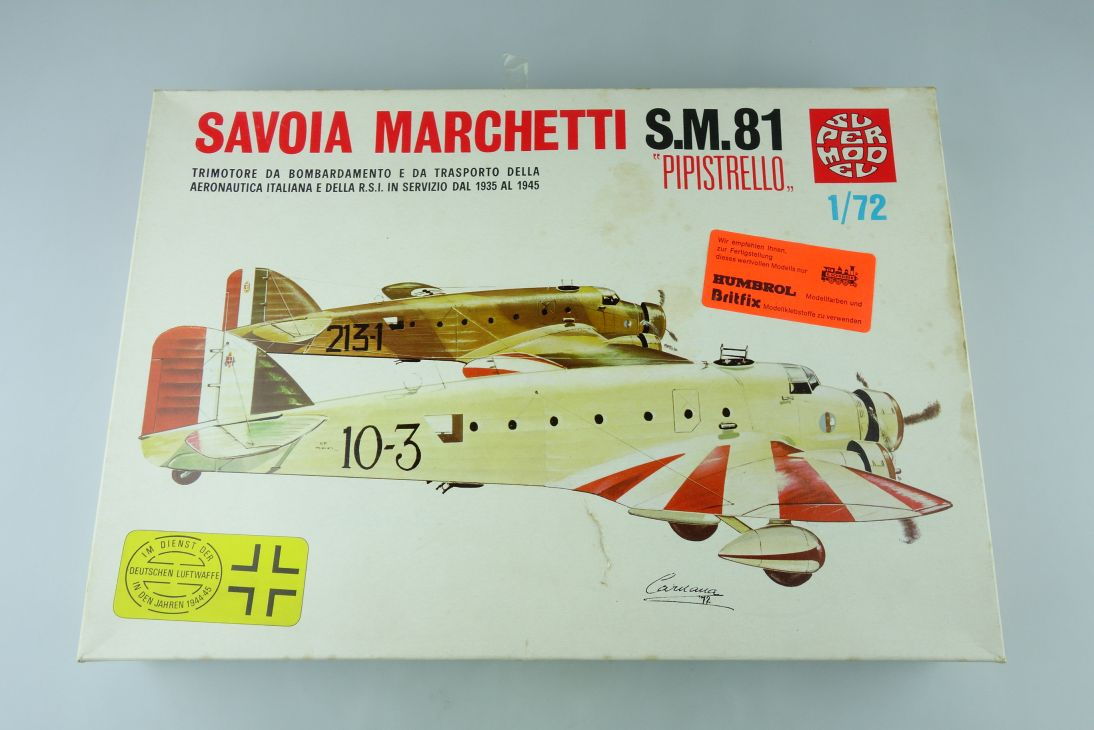 SUPERMODEL 1:72 SAVOIA MARCHETTI S.M.81 PIPISTRELLO prop Kit 10-008 Box 107838