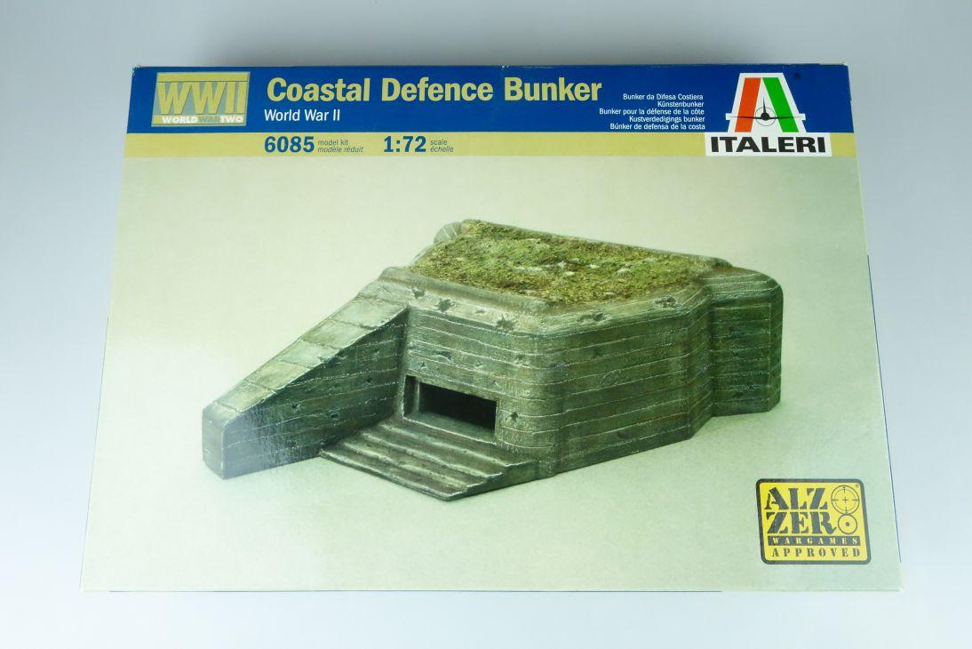 Italeri 1:72 WWII Coastal Defence Bunker Küstenbunker Kit 6085 Box 107839