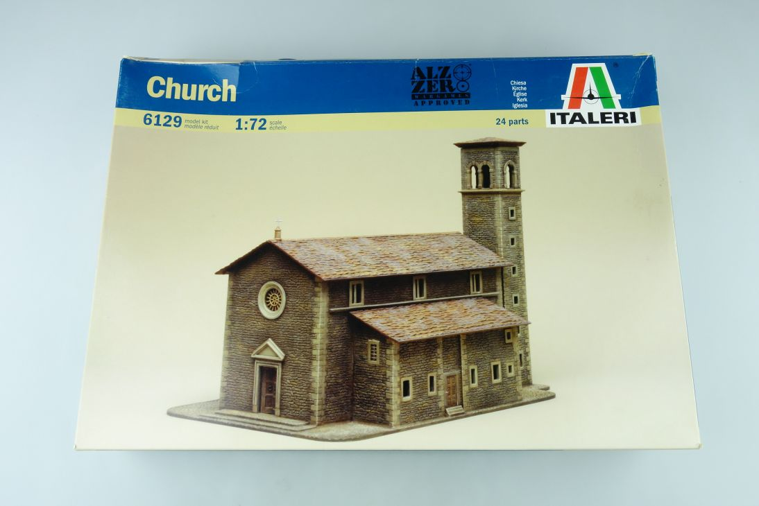 Italeri 1:72 Church Kirche Bausatz Kit 6129 Box 107840