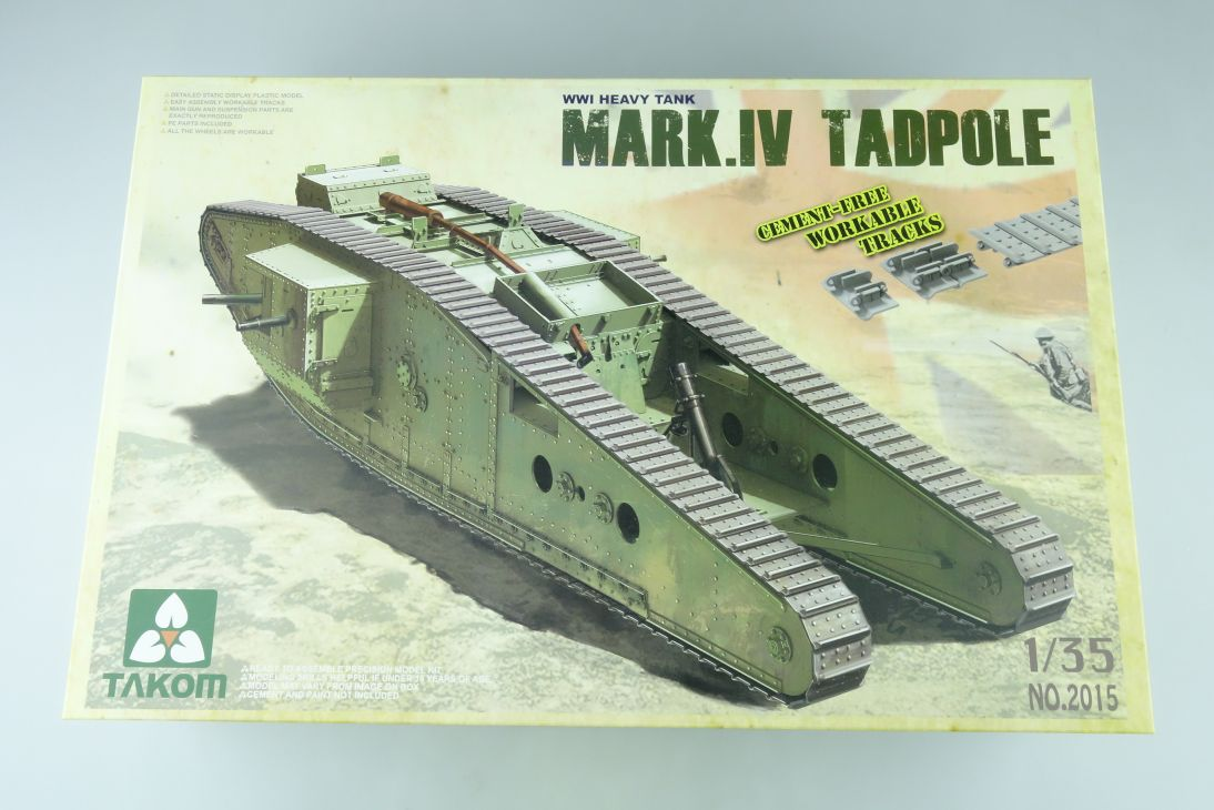 TAKOM 1/35 MARK IV TADPOLE WWI heavy tank Panzer Bausatz Kit 2015 Box 107841