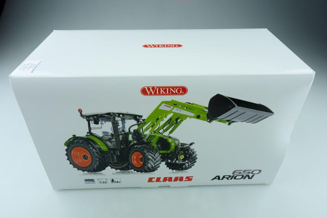77325 Wiking 1/32 Claas Arion 650 Traktor Frontlader Schlepper mit Box 510440