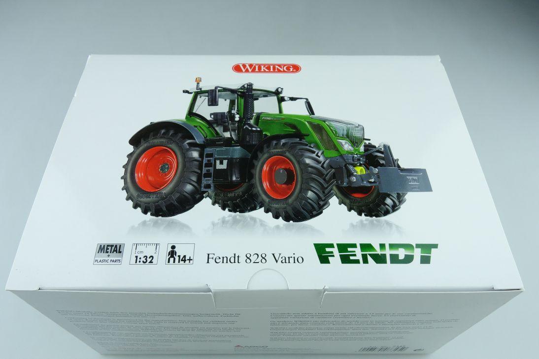7345 Wiking 1/32 Fendt 828 Vario Traktor Agrar Schlepper mit Box 510444