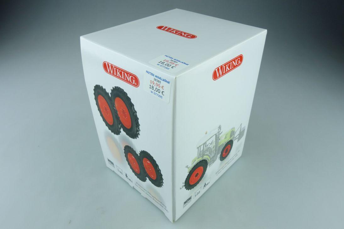 77395 Wiking 1/32 Claas Arion 400 Traktor Rädersatz Pflegebereifung m.Box 510449