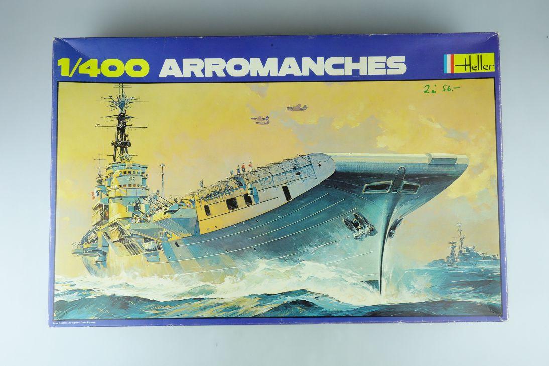 Heller 1:400 ARROMANCHES french aircraft carrier Flugzeugträger kit 1001 107860