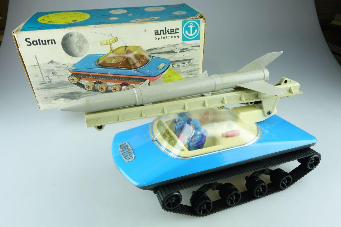 Anker Piko Jupiter Ferngesteuert Raupe Rakete Spielzeug DDR + Box 107786