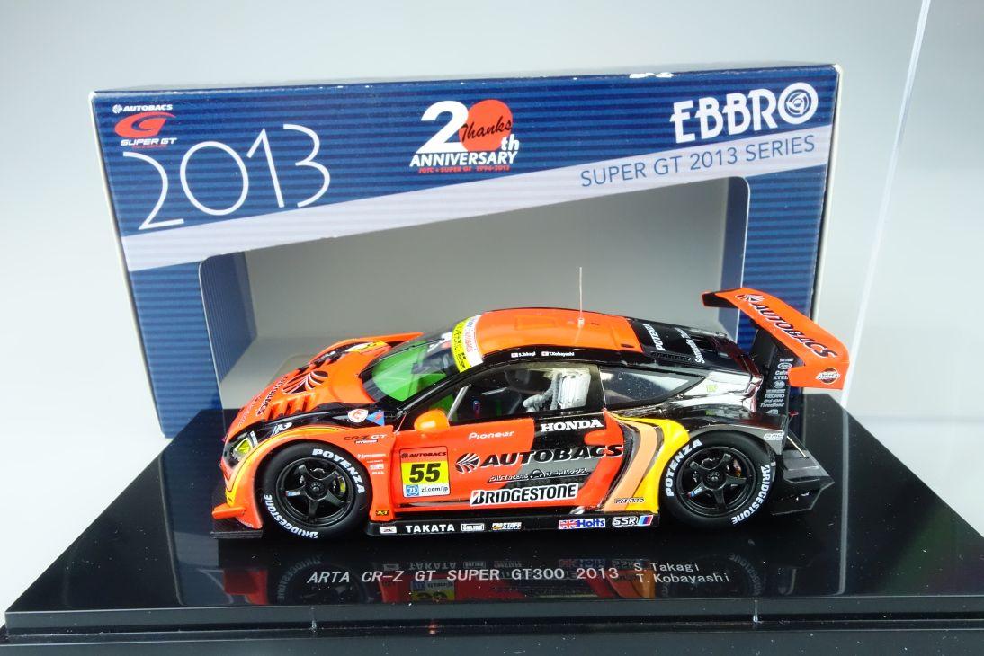 Ebbro 1:43 ARTA CR-Z GT Super GT300 2013 55 diecast 45056 Box 107801