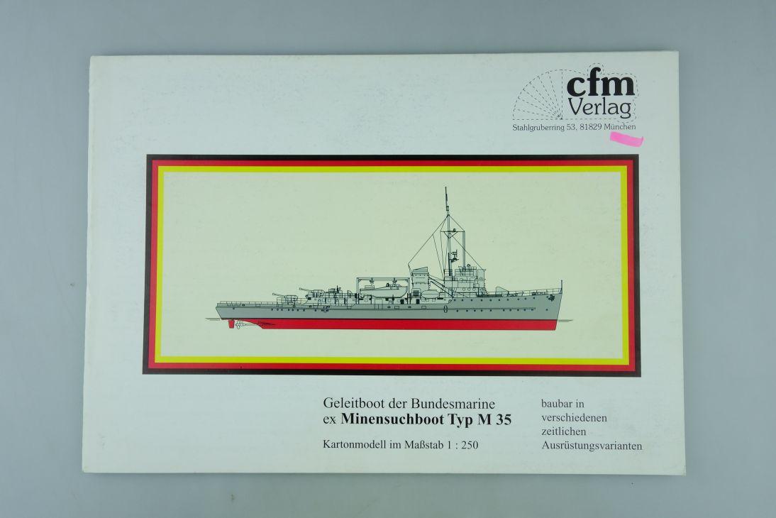 cfm Verlag 1:250 Kartonmodell Geleitboot Bundesmarine Minensuchboot M 35 107938