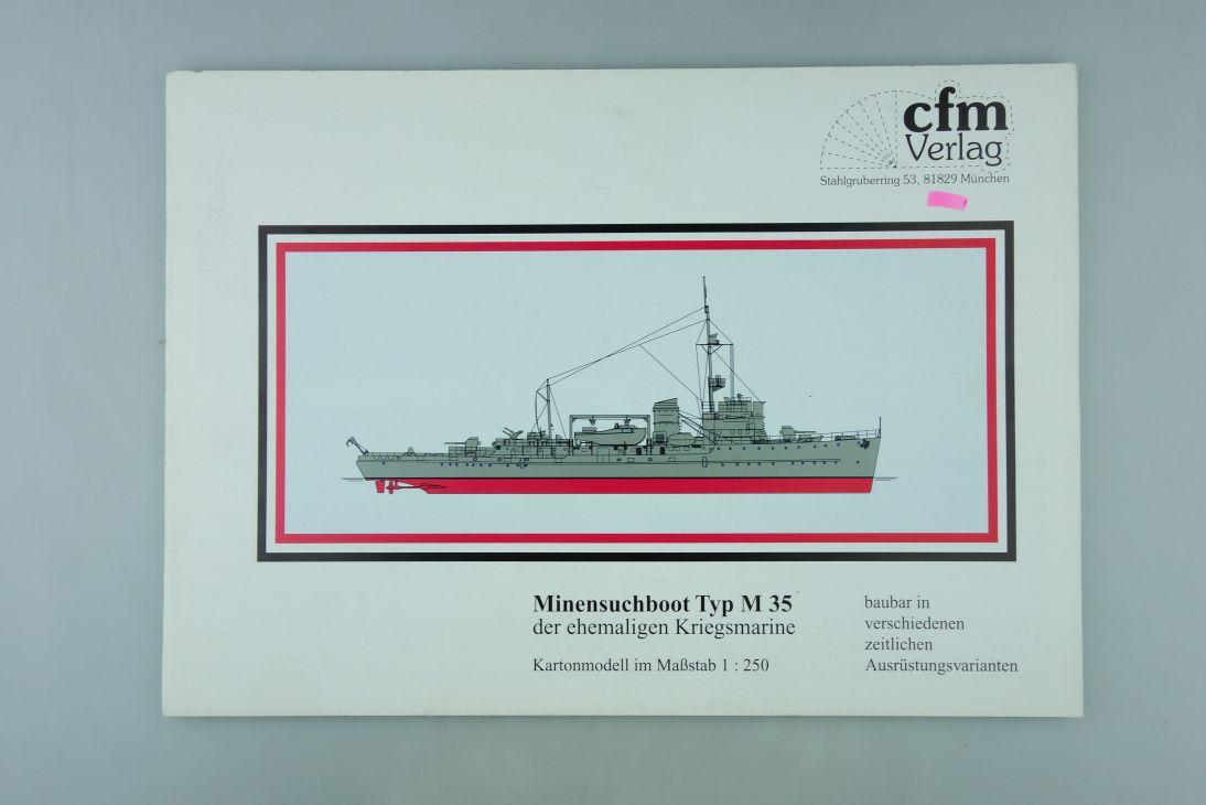 cfm Verlag 1:250 Kartonmodell Minensuchboot M 35 Kriegsmarine paper kit 107939