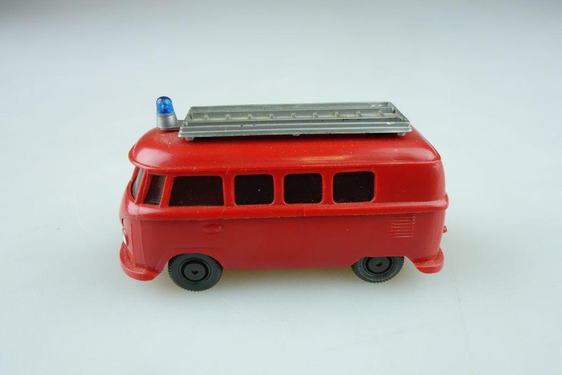 Saure 1046 Wiking 1/87 VW T1 Bus alt Feuerwehr rot ohne Box 510597