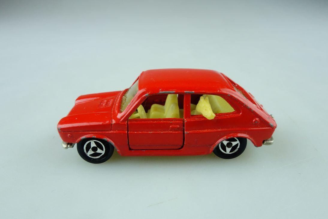 203 Majorette 1/55 Fiat 127 Kompakt rot 70er Jahre ohne Box 510633