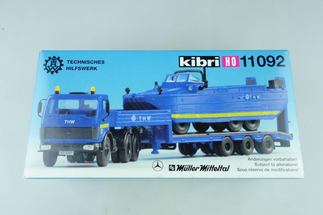 Kibri H0 11092 THW-Set Amphibienfahrzeug MB LKW Kit + Box 107878