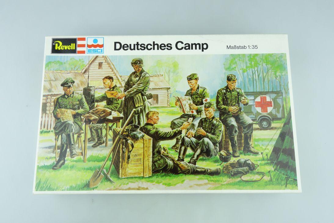 Revell ESCI 1:35 Deutsches Camp Kit H-2257 vintage Sammler Box OVP 108046