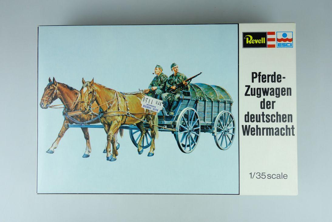 Revell ESCI 1/35 Pferde Zugwagen der deutschen Wehrmacht kit H-2262 108049