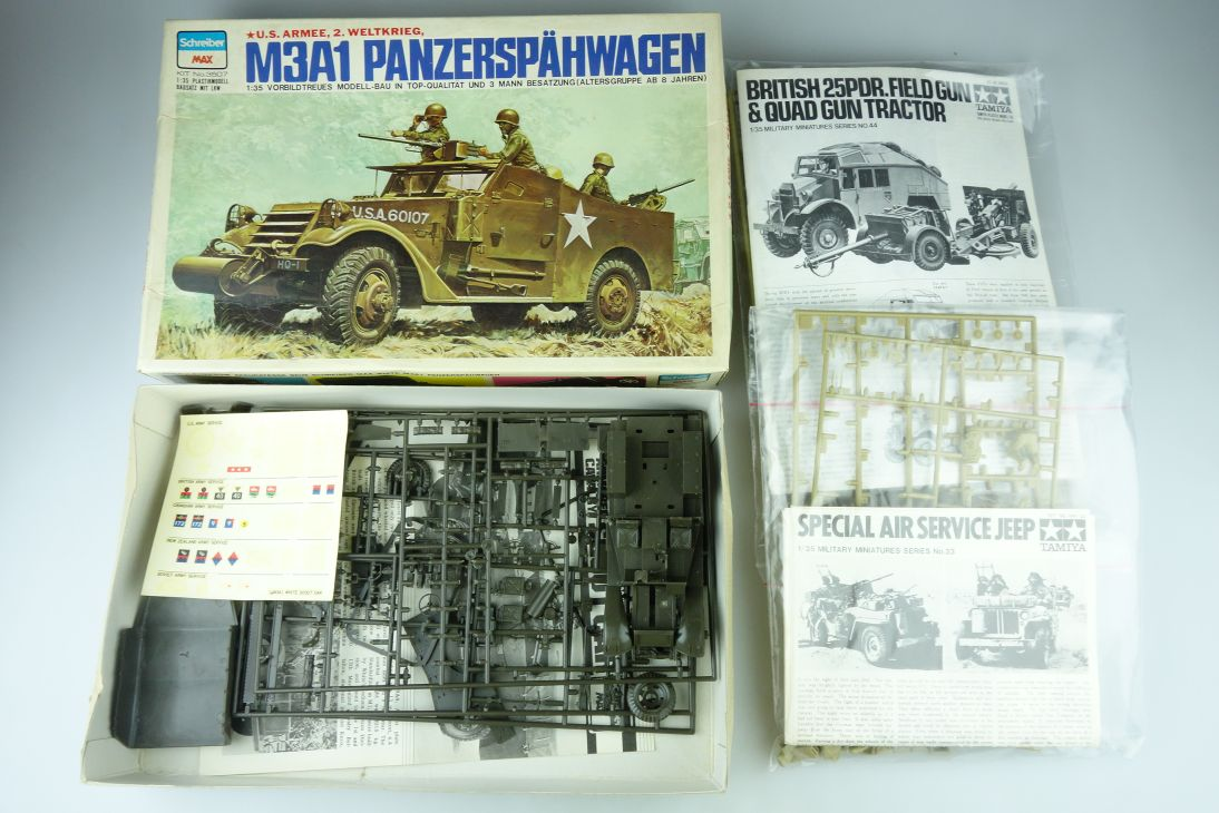 Schreiber MAX 1/35 LOT 3507 Scout Car Tamiya 133 Jeep 144 field gun Kit 108053