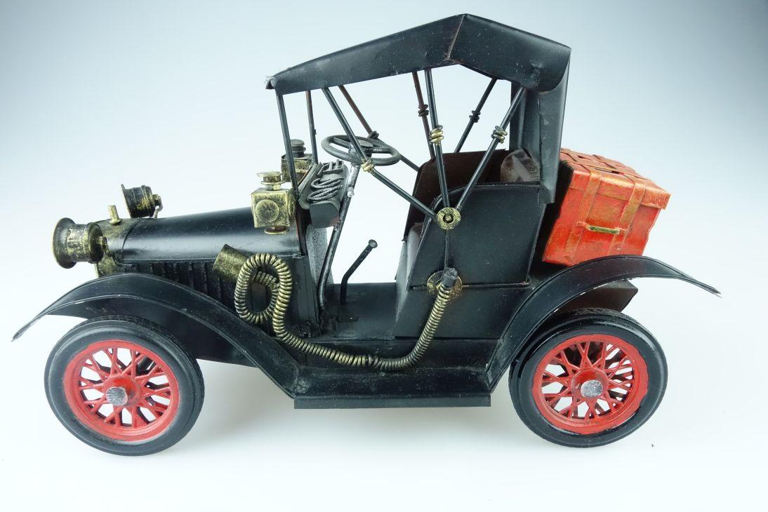 Oldtimer Nostalgie PKW Deko 26cm Modell Blech tin deco 107895