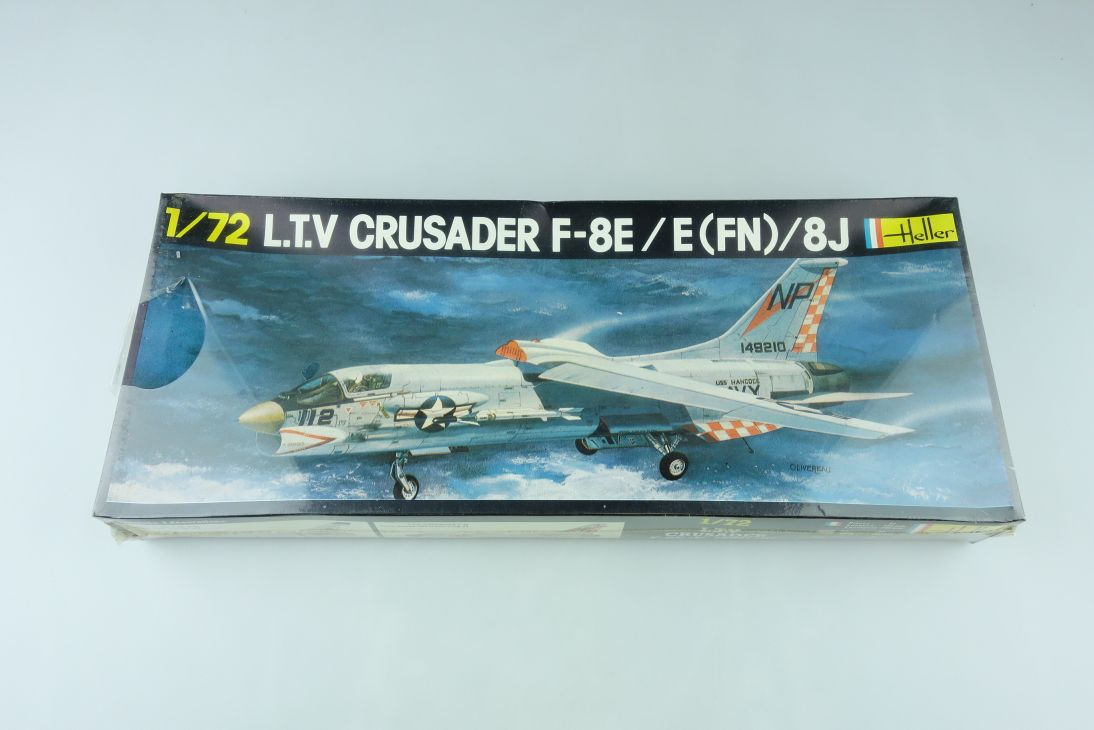 Heller 1/72 LTV Crusader F-8E / E (FN) 8J plane Kit 259 sealed Box 108152