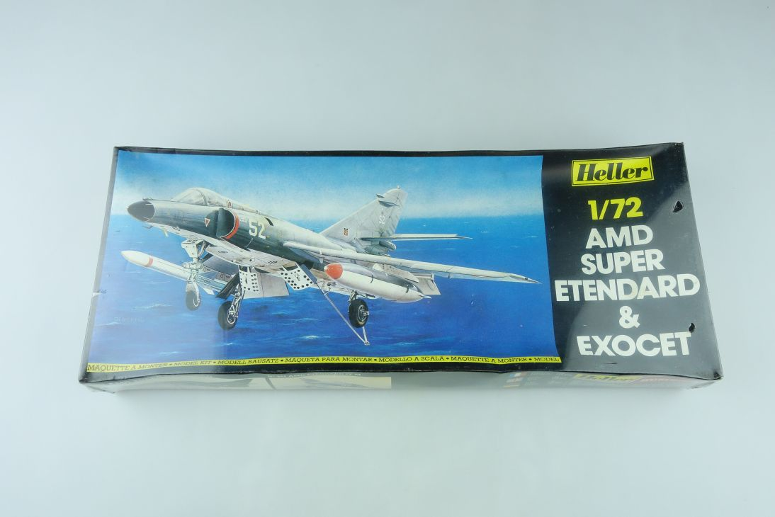 Heller 1/72 AMD Super Etendard & Exocet Kit 360 sealed Box 108154