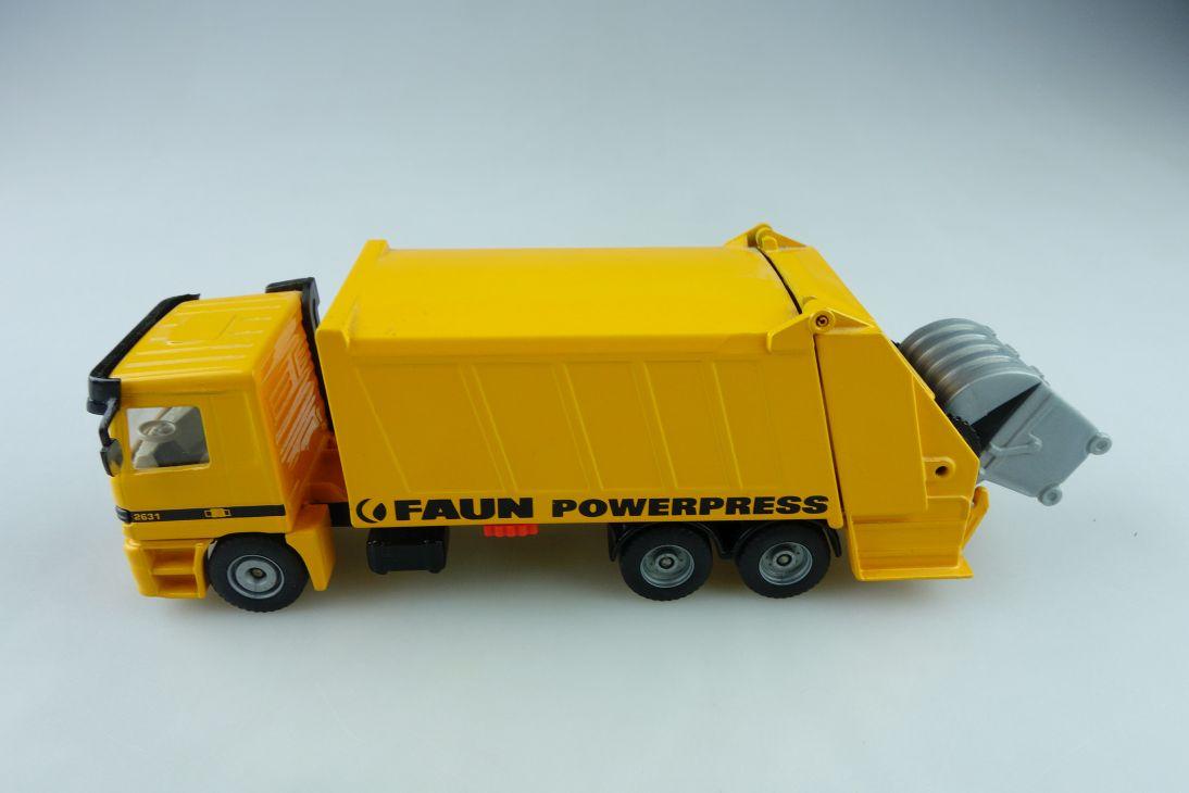 2926 Siku 1/55 Mercedes Benz Actros 2631 Faun Powerpress Müllwgn ohne Box 510781