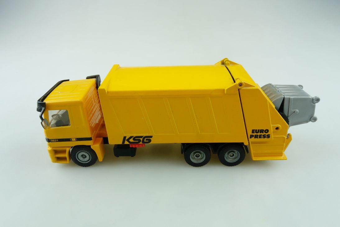 2926 Siku 1/55 Mercedes Benz Actros 2631 Euro Press KSG Müllwgn.ohne Box 510814