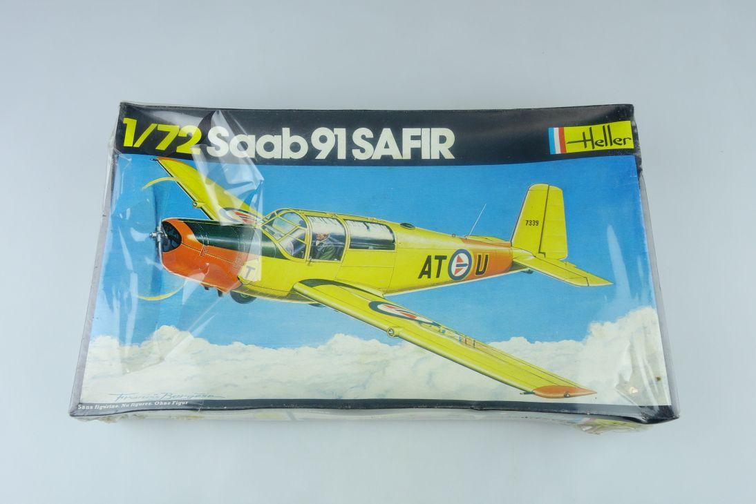 Heller 1/72 Saab 91 SAFIR civil prop plane Bausatz vintage Kit 262 Box 108199