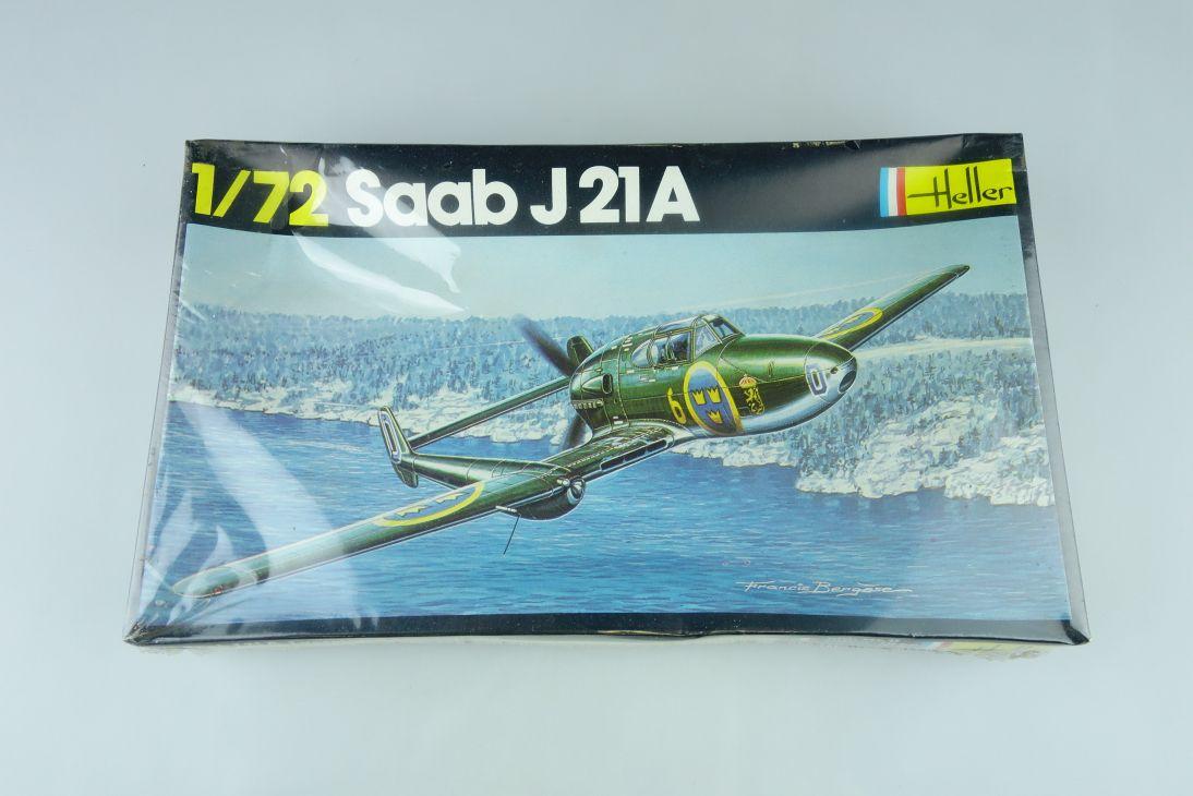 Heller 1/72 Saab J21A civil prop plane Bausatz vintage Kit 261 Box 108202