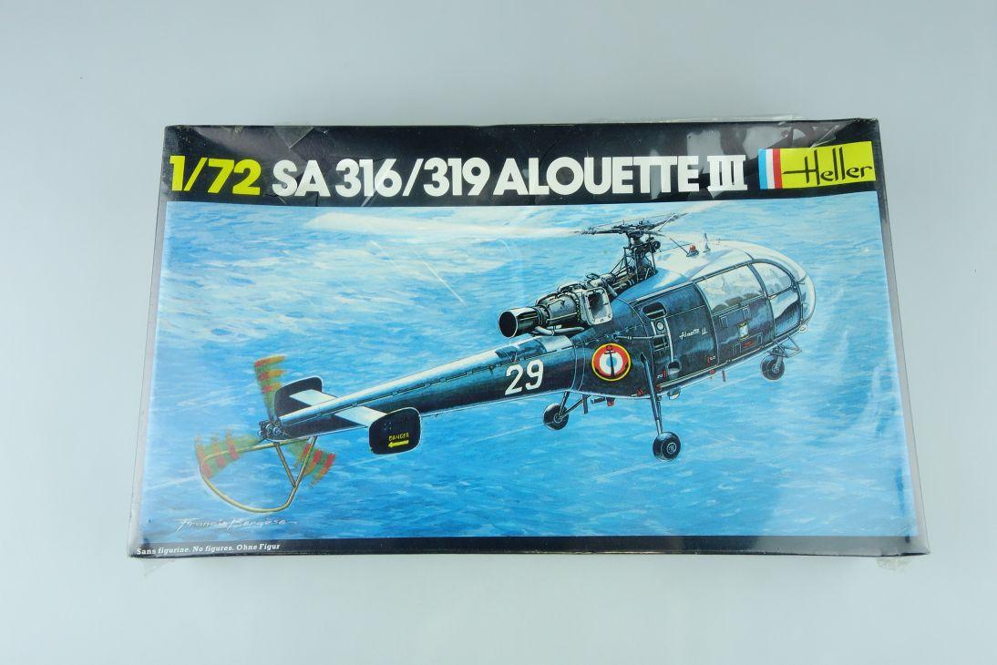 Heller 1/72 SA 316 / 319 ALOUETTE III Helicopter Bausatz Kit 225 Box 108203