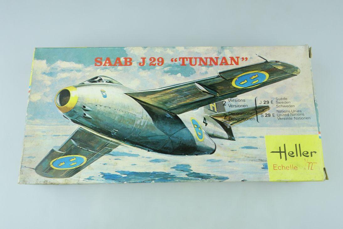 Heller 1/72 SAAB J29 TUNNAN jet Bausatz Kit 260 Box 108204