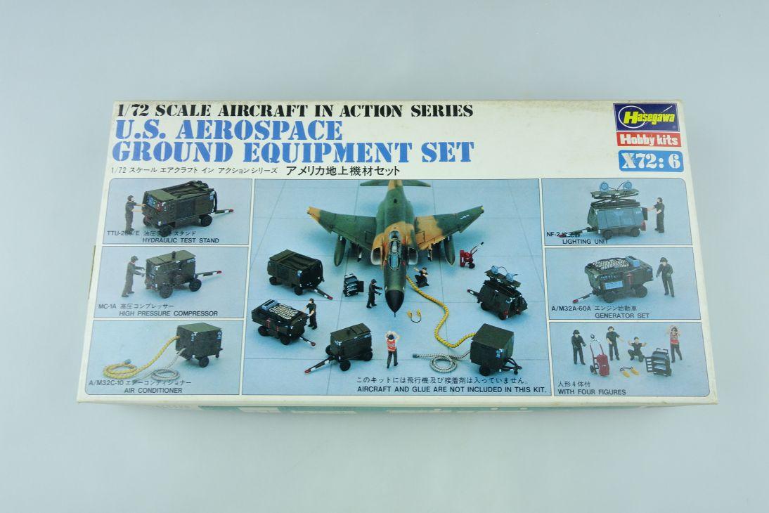 Hasegawa 1/72 US Aerospace Ground Equipment Set Kit X72:6 Box 108208