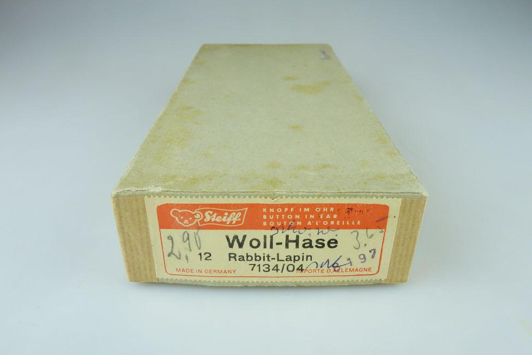 STEIFF Woll-Hase Rabbit Lapin 60er Jahre Karton 7134/04 LEER Vintage Box 108217