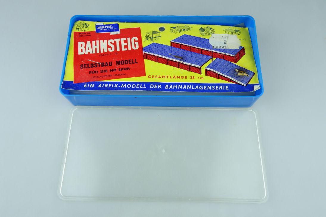 Airfix 1:75 Bahnsteig 38cm vintage Tüten Bausatz bag kit blue box H0 108404