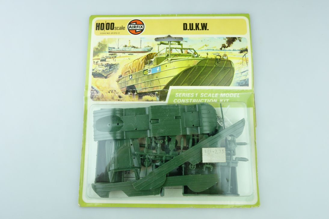 Airfix H0 00 D.U.K.W. DUKW Bausatz kit 01312-3 1 ca. 1:72 Blisterkarte 108409